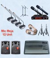 Microphone meja kabel auderpro ap-917 M2 12 mic